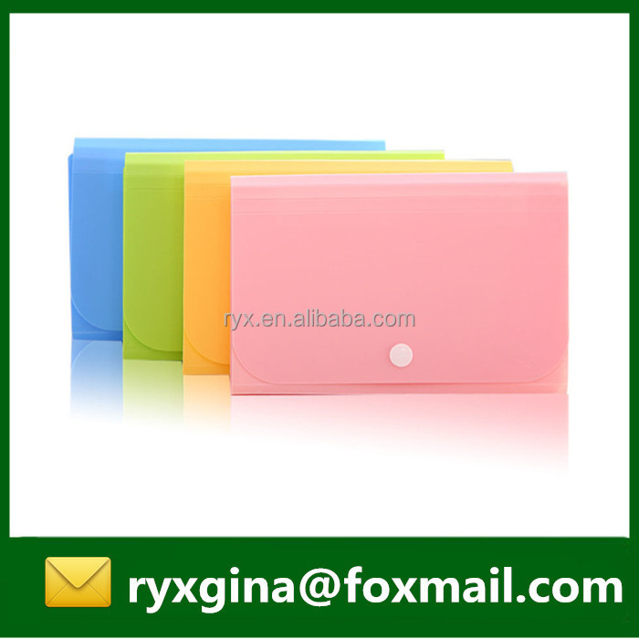 Popular PP material mini expanding file A5 expanding wallet