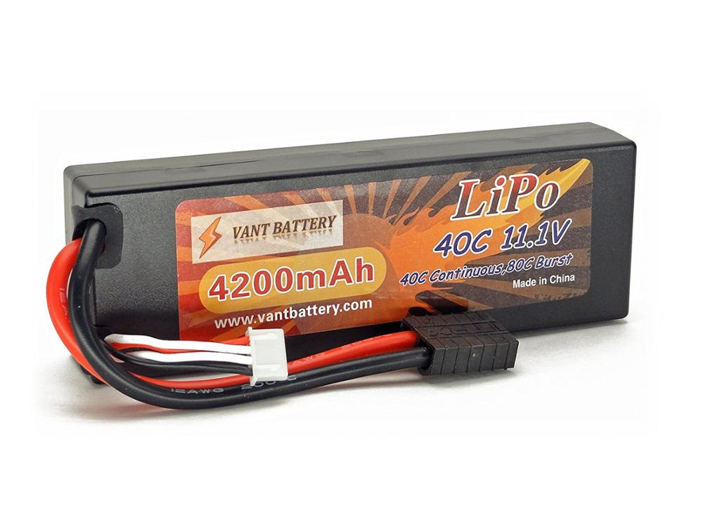 11.1V 4200mAh 3S Cell 40C-80C HardCase LiPo Battery Pack w/ Traxxas High Current Style Connector