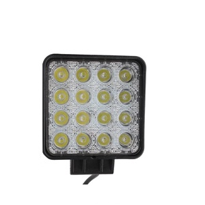 factory supplier 4 inch Led Square Lighting Auto Parts Accessories Truck 48w Car Led Work Light bar with e-mark