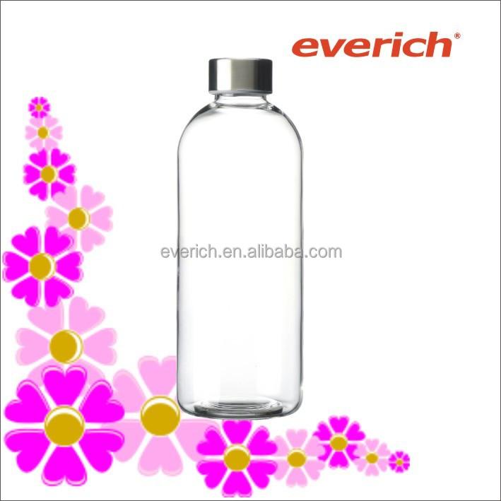 glas trinkflasche 1l
