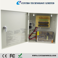 9ch Security Cameras Centralized CCTV Power supply 10A 12V 120W with CE FCC ROHS