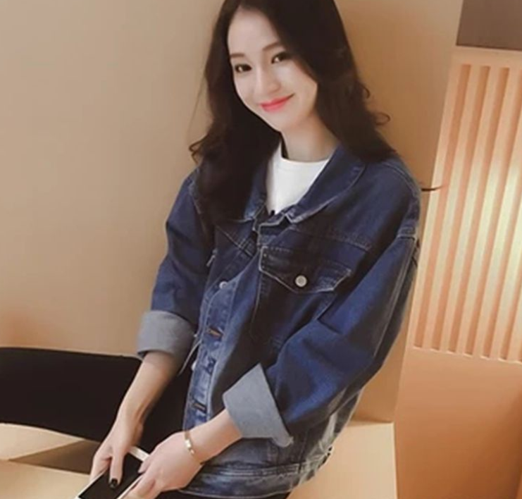 zm40390b new look denim jacket jeans coat women casual long sleeves coats