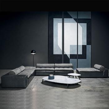 Corner Sofa Modern Italy Combination Sofa Living Room Furniture Light  Luxury Sofa Pu Leather Sectional - Buy Post-modernist Corner Sofa ...