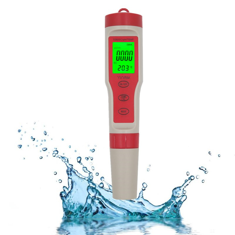 4 in 1Water Quality Tester Digital TDS/TEMP/ EC/PH Meter Monitor Kit TDS Water Tester with Backlight For Pools Drinking Water