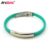 Cheap custom silicone bracelet metal plate