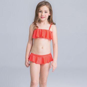 kids bikini カラフルな女の子用バンドゥビキニ - Geometric Kids