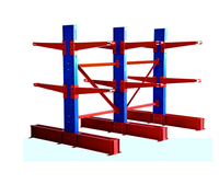 Adjustable Steel Pipe Cantilever Warehouse Racking For Rebar Storage