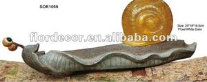 Resin made artwork emulational snail garden decorative solar resin light(SOR1059)
