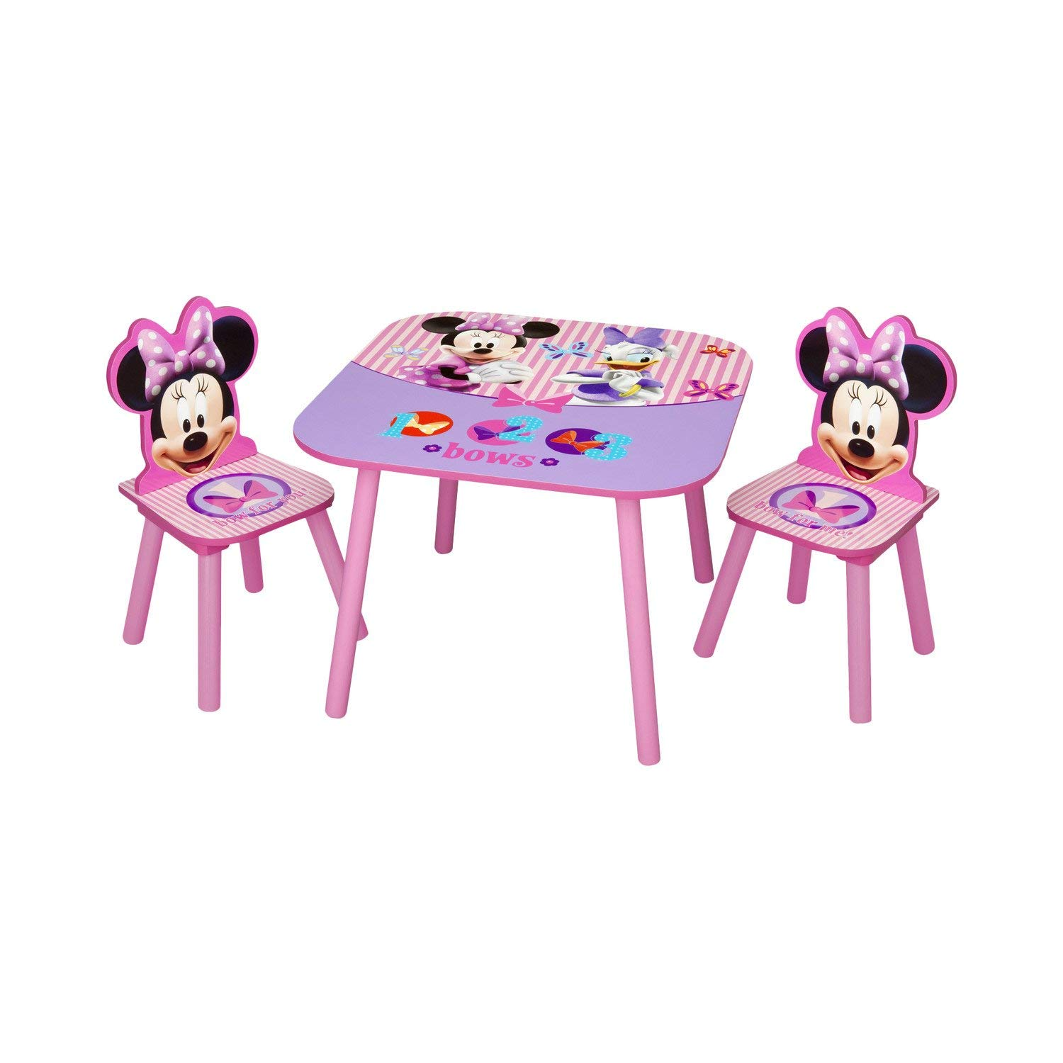 Kids Table And Chair Set Minnie Mouse Kids 3 Piece Non-Toxic And Safe Eco-Friendly Design 26.46 lbs*