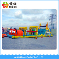 Good quality unique outdoor games,inflatable tunnel obstacle course bounce for sale