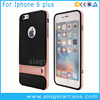 Dual Layer Hard Phone Shell Hybrid PC+TPU Slim Armor Case For iPhone 6 Plus With Kickstand