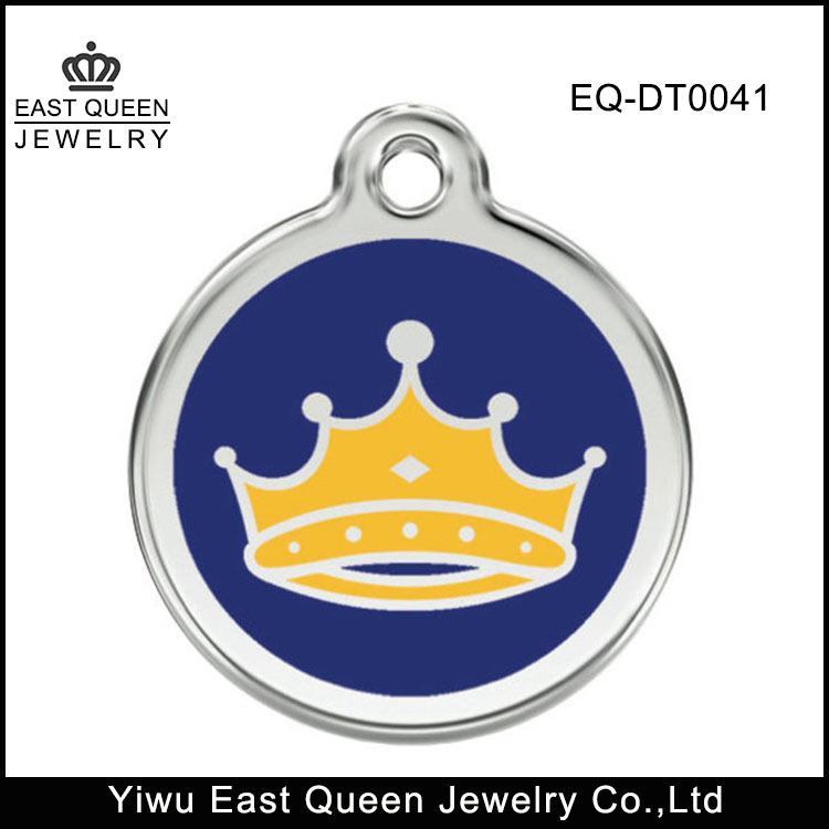 Fashion Stainless Steel Kings Crown Pet Id Tags Wholesale