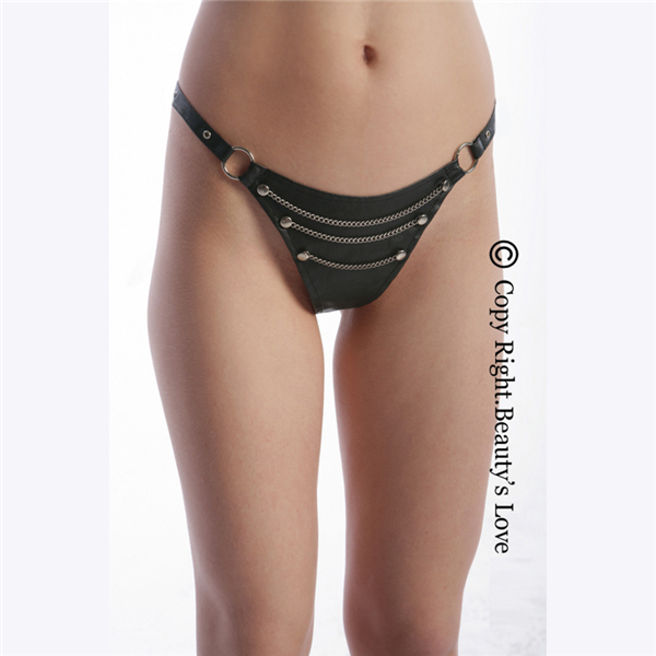 cheap for discount cute quality and quantity assured Rivet Chain Erotic G-string Knickers Sexy T Back Crotchless Leather Thong  For Women - Buy Leather Thong,Sexy Leather Thong For Women,Sexy T Back ...