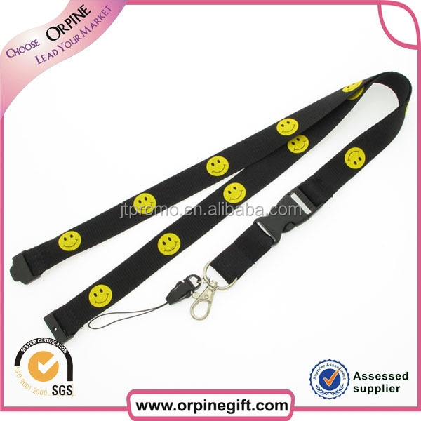 professional high quality personalized lanyard with emoji