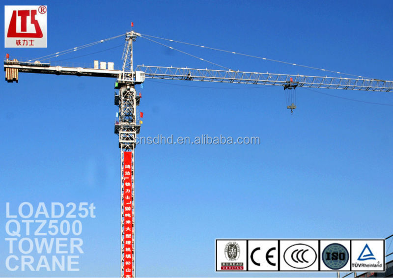 Professional Design 25t Tower Crane Manufacturer For Construction Work