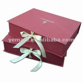 Red Color High-grade Large Gift Boxes With Lids,Flat Pack Gift Box ...