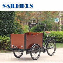 V Brake And 6 Gear Shimano Speed Steel Moped Cargo Tricycles