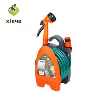 High Quality Garden Hose Holder Pipe Reel Set with Spray