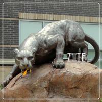 Western Style brass leopard sculpture