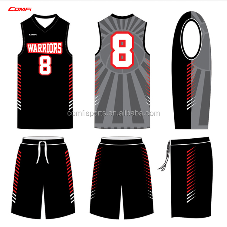 2017 beste sublimation 100% polyester basketball jersey benutzerdefinierte logo design neueste basketball jersey