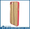 Chromed Plastic Case for iPhone 5S Covers Wooden Skin Design