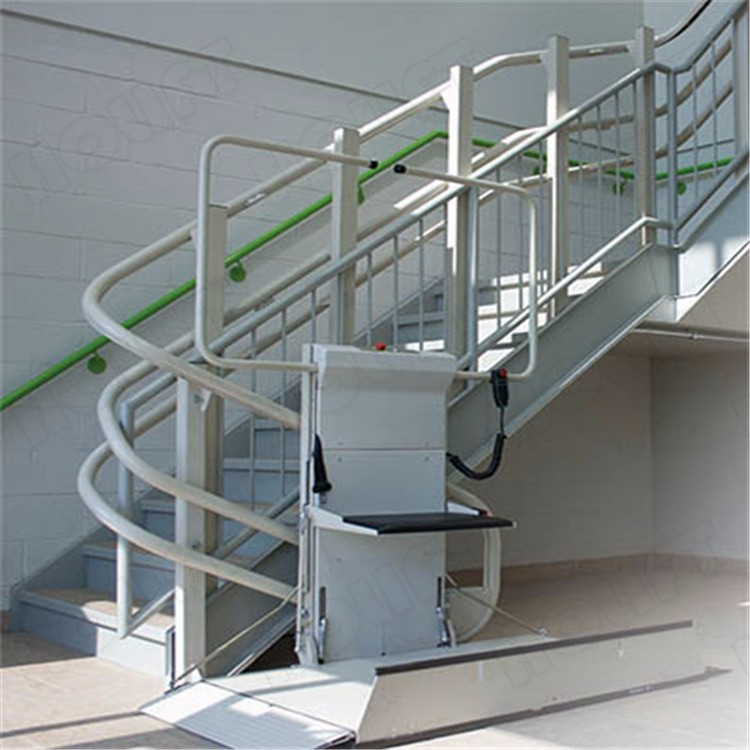 Traction Wheelchair Lift : Factory supply electric wheelchair lift platform curved