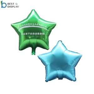 Custom made shape reusable balloons mylar star helium balloons