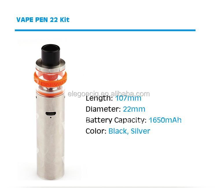 Top-cap Filling Design Smok Vape Pen 22 Kit Genuine Smok Vape Pen 22 Kit  Black,Silver - Buy Vape Pen 22,Smok Vape Pen 22,Vape Pen 22 Kit Product on