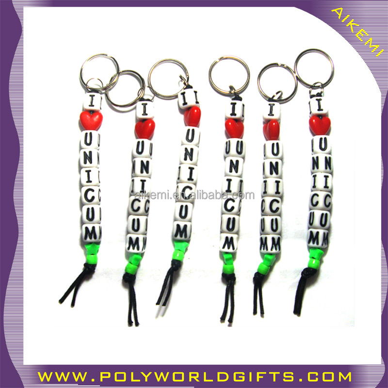 City Name Keychain Customized Souvenir Items Acrylic Diy Alphabet ...