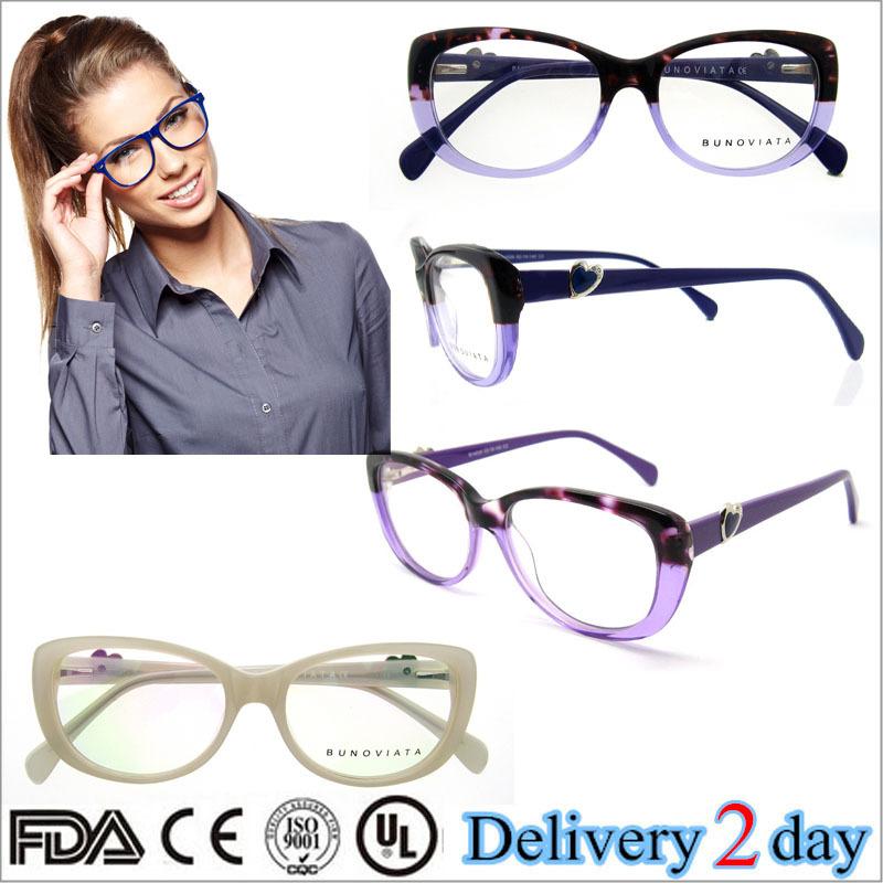 Latest Bright Color Glasses Frames Full Rim Decorate Love Frames ...