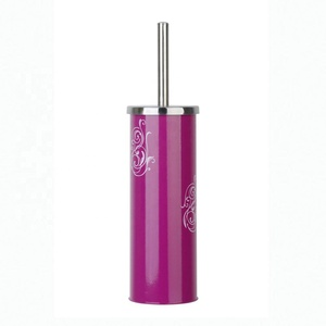 BX Group good quality purple printing toilet brush and holder with plastic inner cup