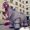 durable cloth Wildlife Carnival vividly inflatable Hippopotamus balloon zoo park decoration outside