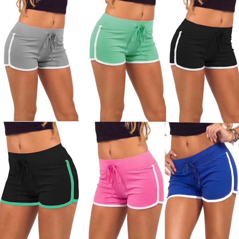 2019 Promotions Women Sport Fitness Shorts Curve Sport Running Yoga ... 40c1bb1e970
