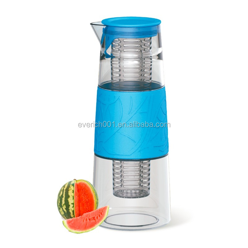 Everich wholesale borosilicate 1l glass water pitcher for fruit infuser buy water picture - Glass filtered water pitcher ...