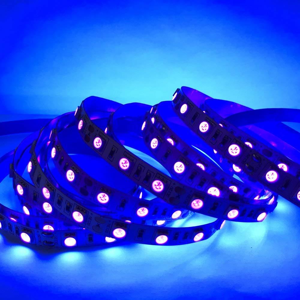 UV Light Black Light 5050 Under Cabinet Lighting Kitchen Lighting LED Strip Lights 300LEDs DC12V 70W for Decorative Lights Car Lights UV LED