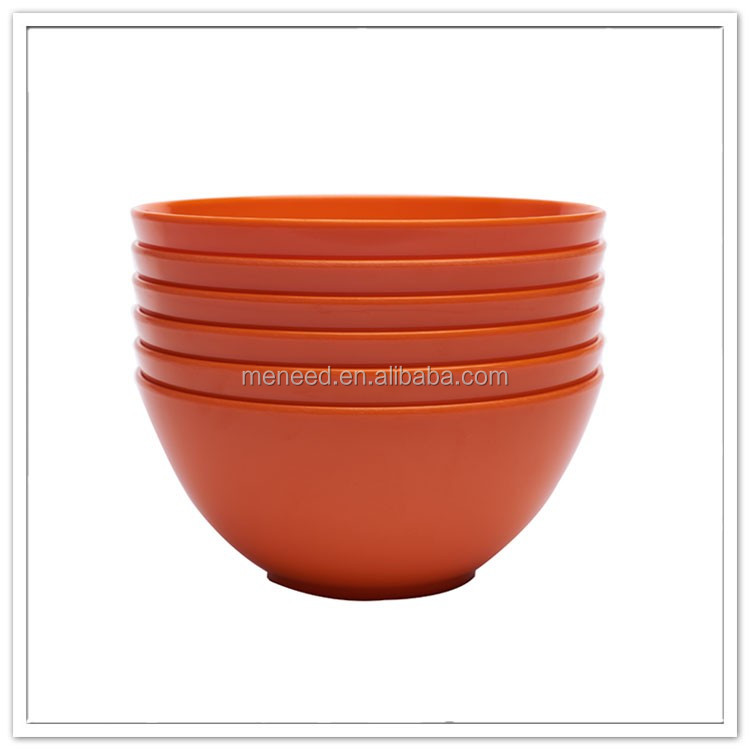 6 inch custom pottery like melamine breakfast bowl