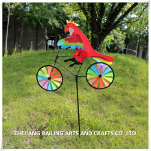 garden ornaments animal and bicycle type design windmill nylon and plastic material
