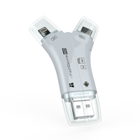 4 in 1 Type-c/Micro usb/OTG Micro Usb Card Reader 3.0 magnetic card reader writer