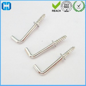 Zinc-Plated Square Bend Screw Hook Square Cup Hooks