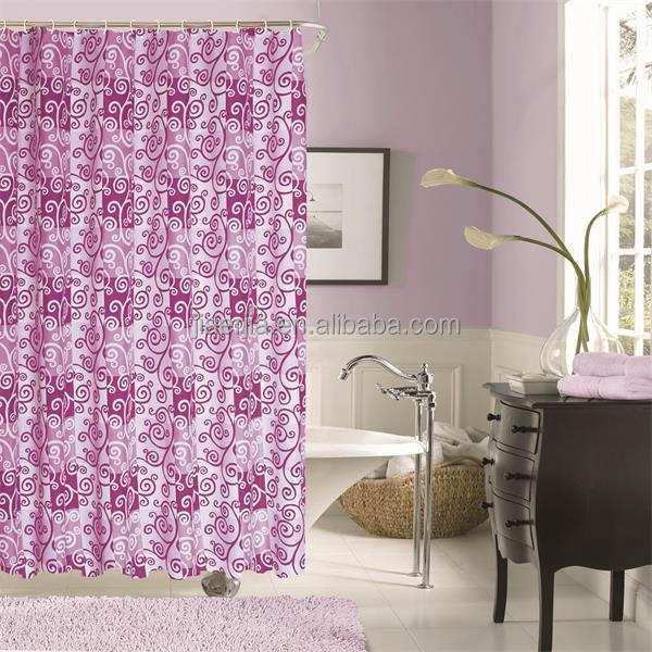 Custom Modern Good Quality Polyester Led Shower Curtains