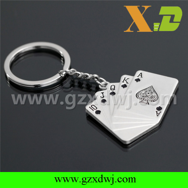 Factory wholesale poker key chain for entertainment promotion gift
