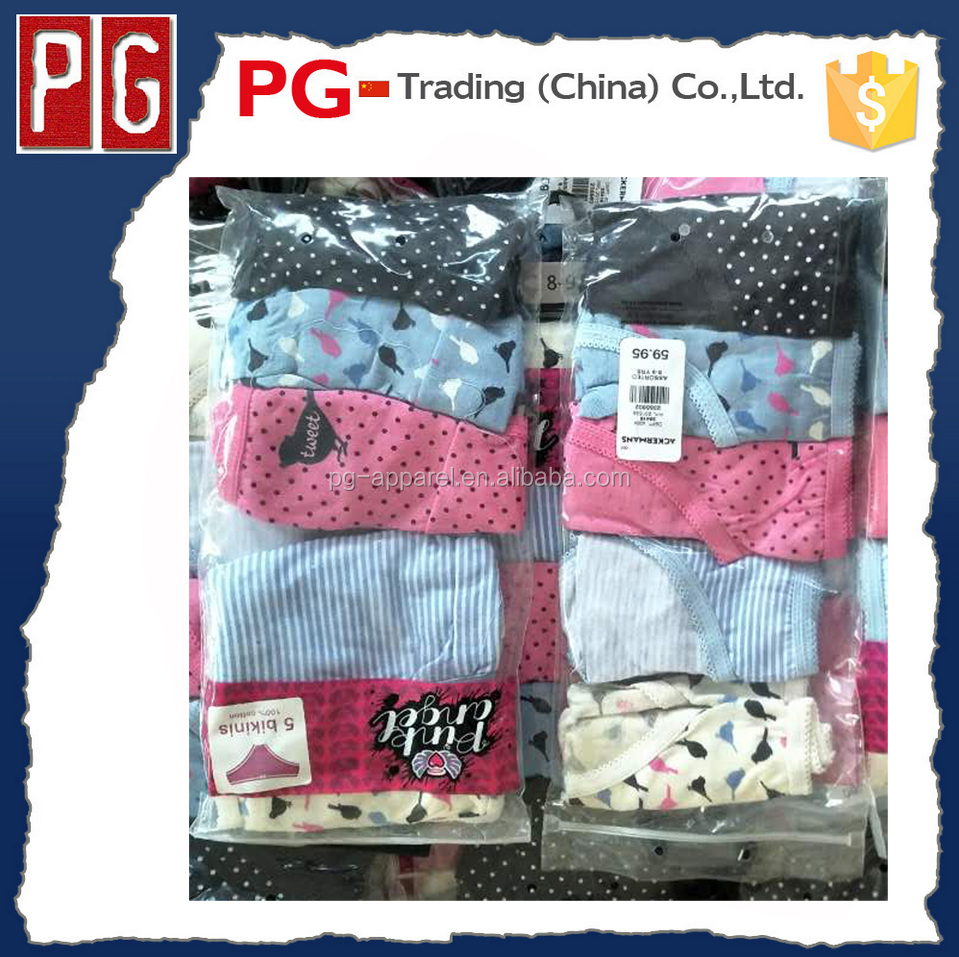 girl's brief wholesale kids' underwear cheap stock lot