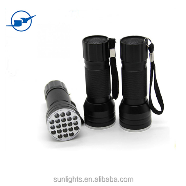 395LM Multi-Use Mini Black LED Flashlight 12led UV flashlight ON/OFF portable led flashlight torch