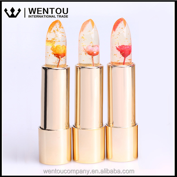 Free Shipping Transparent Color Changeing Magic Flower Lipstick