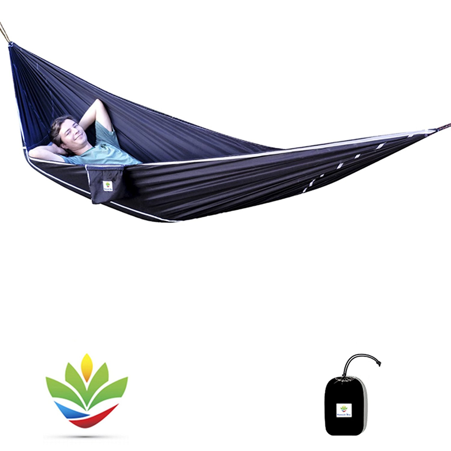 """Hammock Bliss Sky Bed - Hangs Like A Hammock, Sleeps Like A Bed - Unique Asymmetrical Design Creates An Amazingly Flat and Insulated Camping Hammock - Integrated Suspension 100"""" / 250 cm Rope Per Side"""