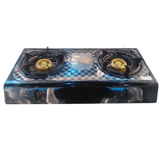 cool black stainless steel tabletop gas cooker 2 burners gas stove