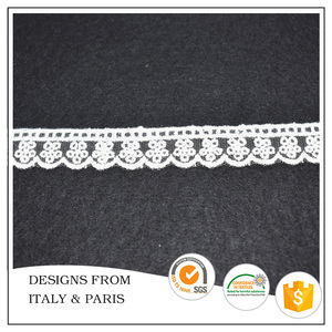 Wholesale 2.2cm Net Embroidery Lace Trim for Dress