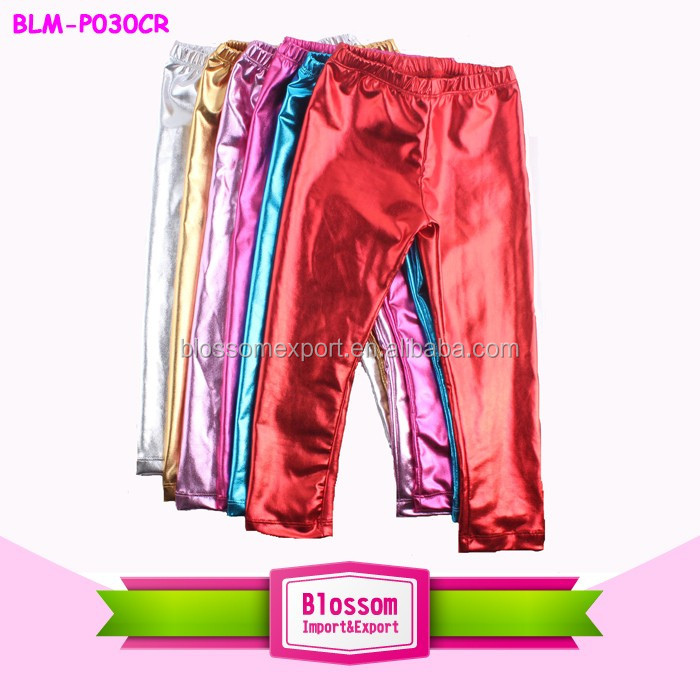 Wholesale Baby Girl Ruffle Pants Kids Girls Cotton Double Ruffle Capri Pants