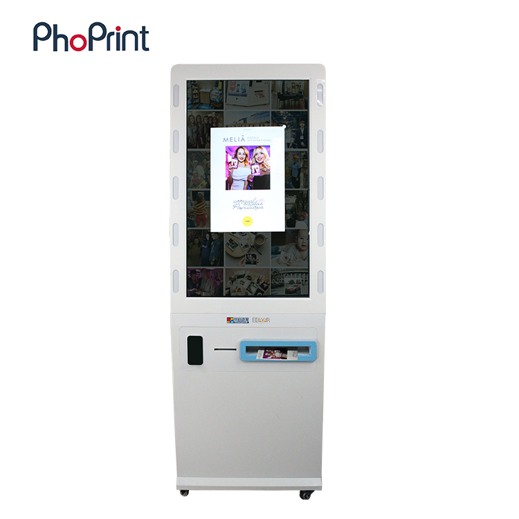 Free standing video playback and photo print function All in One product equipment/hiti photo printer s420/photo printer booth