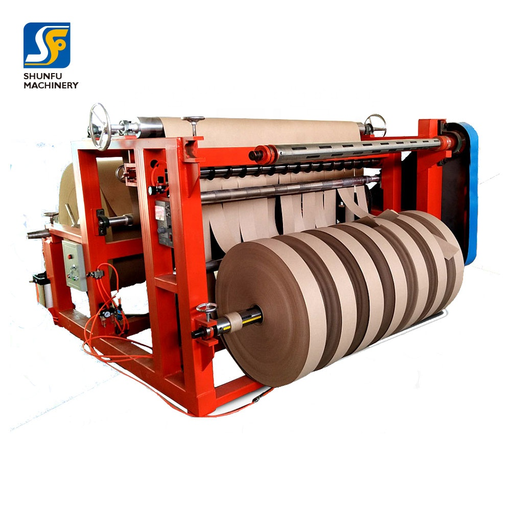 Full automatic high speed 10-200m/min kraft paper slitter for making paper core tube
